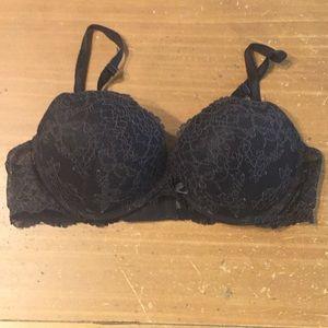 Victoria's Secret Black Lace Dream Angels Bra 38B